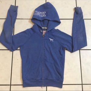 PINK zipper sweater size small